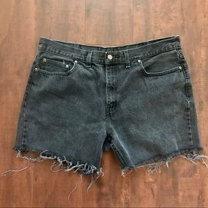 FADED GLORY Vintage shorts, faded black denim